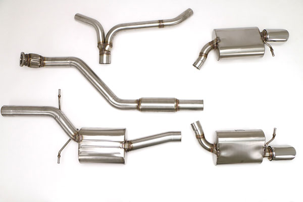 B&B Billy Boat Exhaust FPIM-0604: Billy Boat B&B Audi A4 2009 - 2016 B8 A4 Avant Quattro 2.0T Tiptronic (also sedan) (Round Tips)