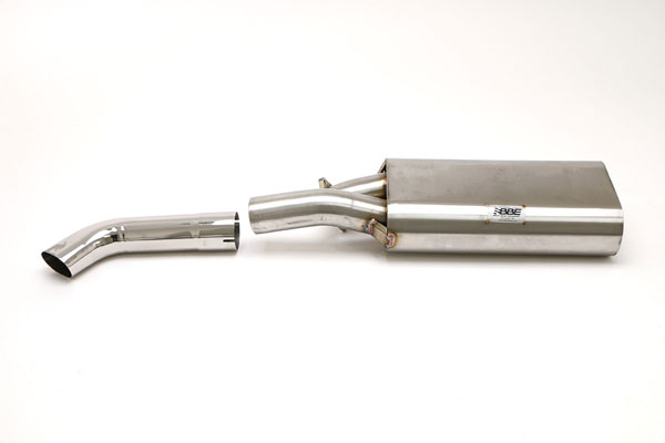 B&B Billy Boat Exhaust FPOR-0200: Billy Boat B&B Porsche 930/911 1975 - 1989 930/911 Turbo Muffler Single Outlet w/ Single 3'' Oval Tip