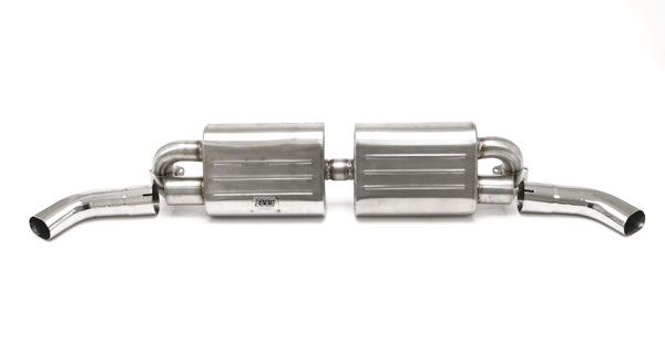 B&B Billy Boat Exhaust FPOR-0460: Billy Boat B&B Porsche 911 1975 - 1989 Muffler for B&B Header Twin Outlet 3'' Cut-Edge OVAL Tips