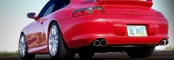 B&B Billy Boat Exhaust FPOR-0830 | Billy Boat B&B Porsche 996 - 996 GT3 Mufflers w/Quad Double Wall Tips; 1999-2004