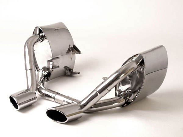 B&B Billy Boat Exhaust FPOR-0855: Billy Boat B&B Porsche 996 2002 - 2004 996 C4S Mufflers w/Elliptical Tips