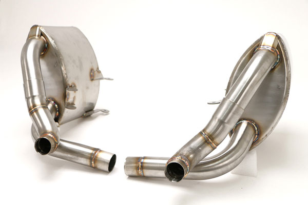 B&B Billy Boat Exhaust FPOR-0875: Billy Boat B&B Porsche 997 2005 - 2008 997 Mufflers OE Tips (must specify 997 or 997S if using OE tips)