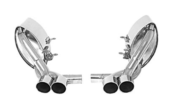 B&B Billy Boat Exhaust (FPOR-2050) Billy Boat B&B Porsche 997 2005 - 2008 997 Quad Double Wall Tips, Pair (FOR USE WITH B&B EXHAUSTS)