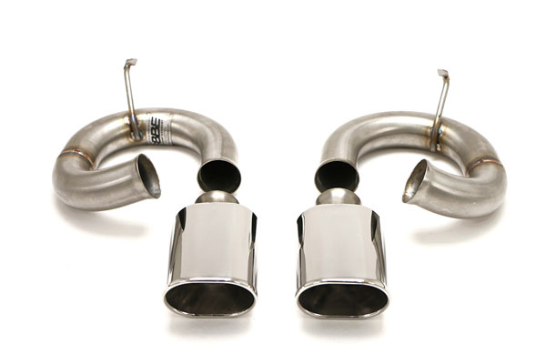 B&B Billy Boat Exhaust (FPOR-2525) Billy Boat B&B Porsche 993 1995 - 1998 993 Muffler By-Pass Pipes w/ Cut-Edge OVAL Tips