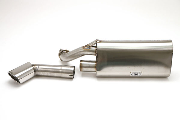 B&B Billy Boat Exhaust FPOR-4305 | Billy Boat B&B Porsche 911 - 911 Single Inlet w/Single Outlet Oval Tip; 1984-1989