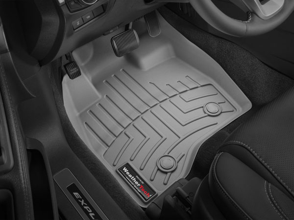Weathertech  Front Floorliner Ford Edge Grey Fits Vehicles With Dual Posts On Driver Side