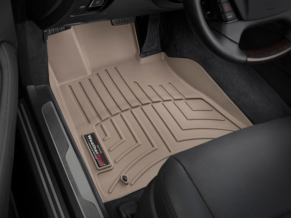 WeatherTech 450191 |  Front FloorLiner Nissan Titan King Cab - Tan (2 driver side retention posts); 2004-2014
