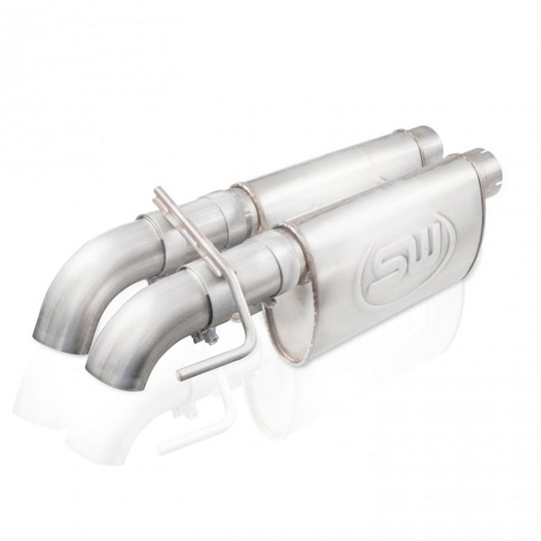 "Stainless Works FTR13CBDP |  Ford Raptor Exhaust: 3"" Dual Dump Style SuperCab; 2010-2014"