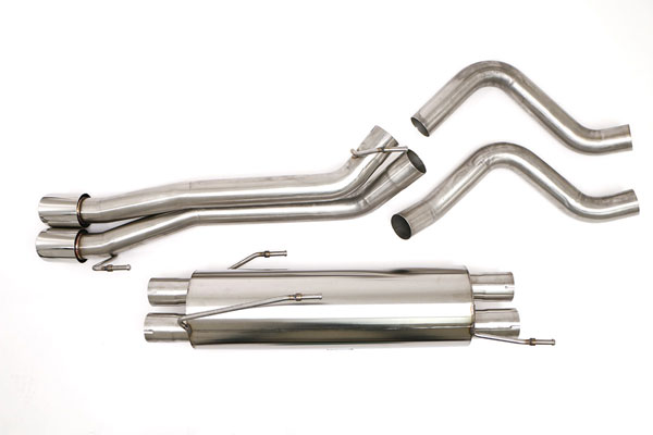B&B Billy Boat Exhaust (FTRU-0438) Billy Boat B&B Dodge Ram SRT - 10 2006 - 2007 Ram SRT-10 Cat Back Twin 4'' Dbl Wall