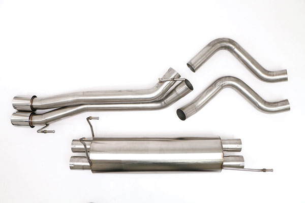 B&B Billy Boat Exhaust FTRU-0440: B&B Exhaust System Dodge RAM SRT-10 Truck 4 TWIN ROUND DOUBLE WALL TIPS 2004-05