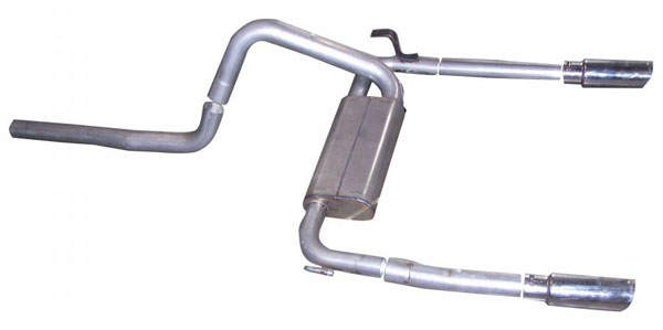 Gibson Exhaust 620000 | Gibson Exhuast System for Firebird V8 (Stainless Steel); 1998-2002