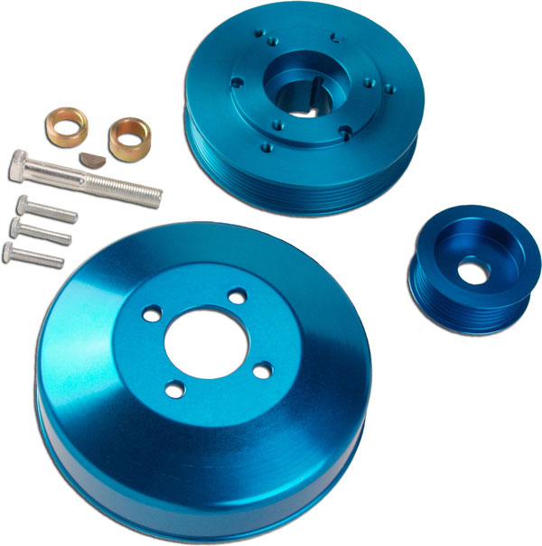 Granatelli (GM-UP0004)  2000.5-2004 Mustang GT Underdrive Pulley Set