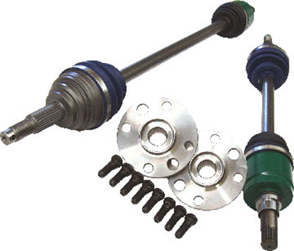 The Driveshaft Shop GM23:  1995-2004 Chevy Cavalier/Pontiac Sunfire 500 HP 5-speed manual Axle/Hub kit Level 3 (includes 2.2 - 2.4 and Ecotec all)