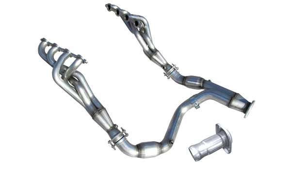 American Racing Headers GM53-14134300LSWC:  GM Truck 5.3L 2014-2017 Long System With Cats: 1-3/4in x 3in Headers, 3in Y-Pipe With Cats