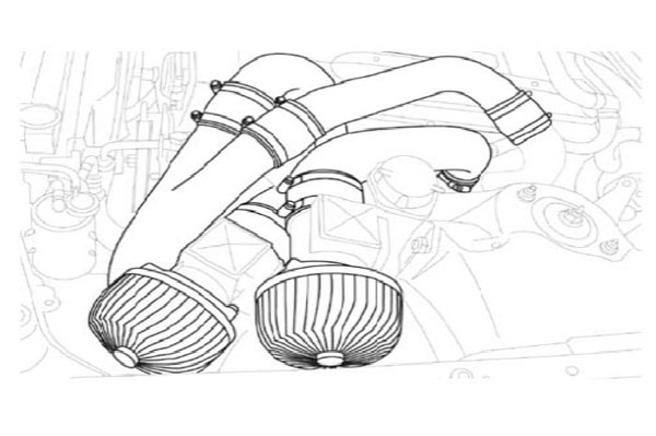 GReddy 11920231   89-94 Nissan Skyline GT-R Twin Airinx Complete Suction Intake Kit w/Z32 Airflow Meters; 1989-1994