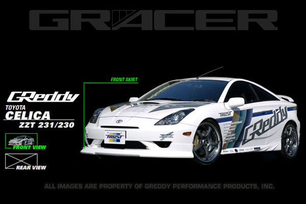GReddy 17010092 | 03-05 Toyota Celica Front Lip Spoiler **Must ask/call to order**; 2003-2005