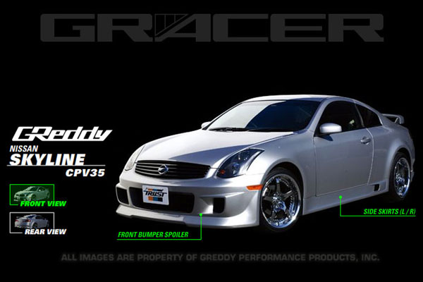 GReddy 17020191 | 03-04 Infiniti G35 Coupe Front Facia (Must ask/call to order); 2003-2004