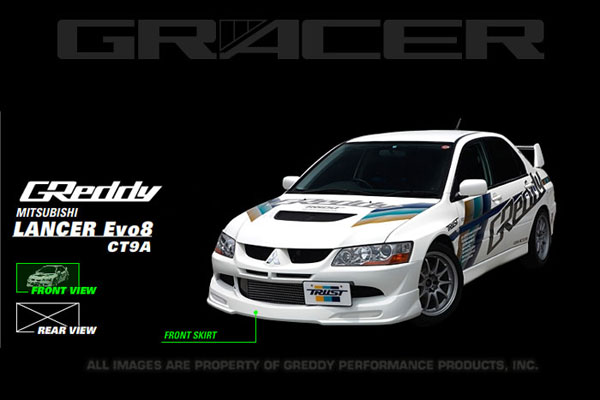 GReddy 17030013 | 03-05 Mitsubishi Evolution VIII Urethane Front Lip Spoiler **Must Ask/Call to Order**; 2003-2005