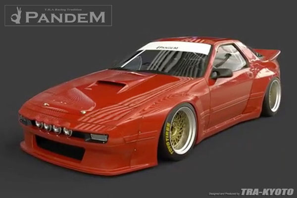 GReddy 17040330 | Pandem 85-92 Mazda RX-7 FC3S Complete Wide Body Aero Kit WITH WING (Special Order); 1985-1992