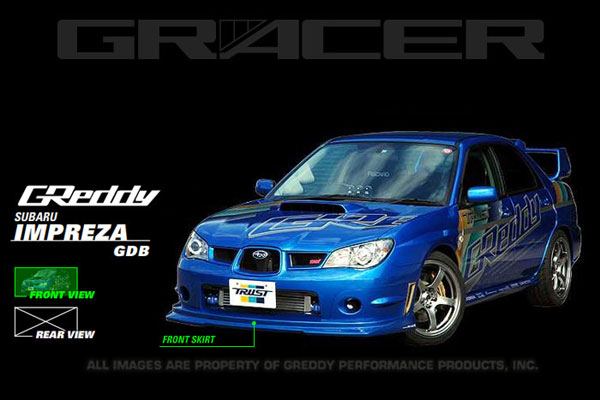GReddy 17060053 | 06-07 WRX & STi Front Lip Spoiler FRP ** Must ask/call to order**; 2006-2007