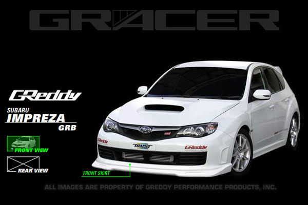 GReddy 17060054 | 08+ WRX & STi Front Lip Spoiler ** Must ask/call to order**; 2008-2014