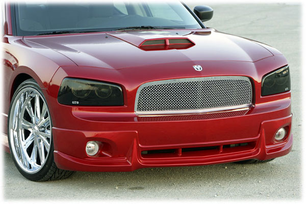 GT Styling GT0663S |  Dodge Charger Smoke Headlight Covers; 2006-2010