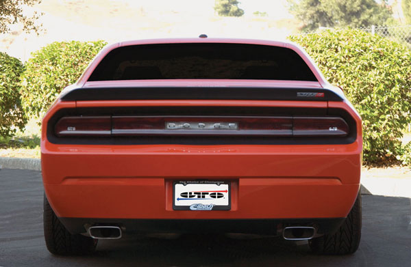 GT Styling GT4164: GTStyling Challenger Smoke Rear Center Blackout Panel (w / opening for Dodge)
