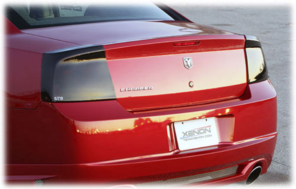 GT Styling GT4663 |  Dodge Charger Smoke Taillight Covers; 2006-2008