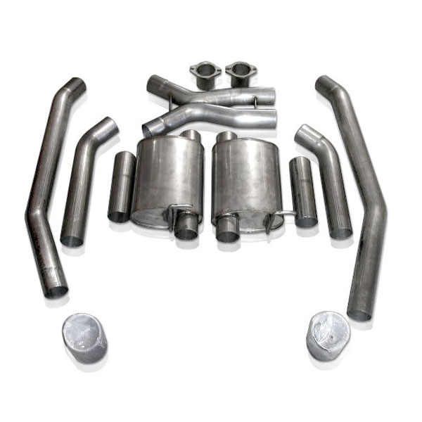 Stainless Works GTOTOLTMDT |  Pontiac GTO Catback Exhaust Turbo Chambered - Slash Cut with X-PIpe; 2004-2004