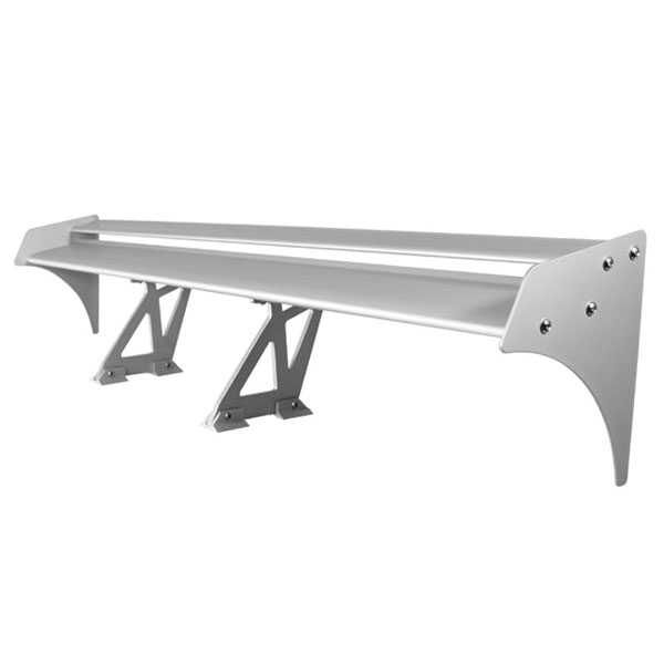 xTune GTW-SP-T3-SL:  Type III 52 Inch Double Deck GT Wing Aluminum - Silver