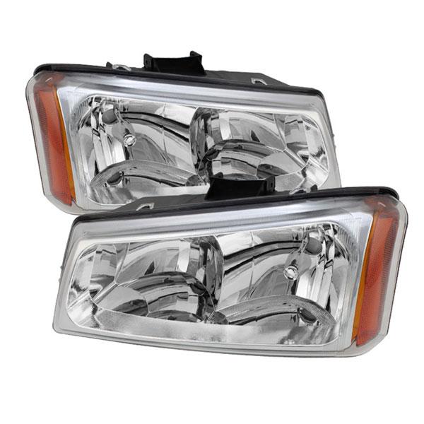 xTune HD-JH-CSIL03-C-AM |  Chevrolet Silverado 1500/2500/3500 / Chevrolet Silverado 1500HD / Chevrolet Silverado 2500HD Crystal Headlights - Chrome; 2003-2007