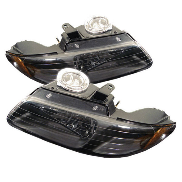 xTune HD-JH-DC96-AM-BK |  Dodge Caravan/Grand Caravan 96-00 Amber Crystal Headlights - Black