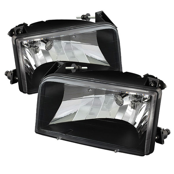 xTune HD-JH-FB92-BK |  Ford F150 Crystal Headlights - Black; 1992-1996