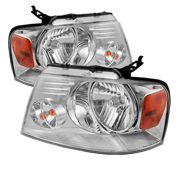 xTune HD-JH-FF15004-AM-C:  Ford F150 04-08 Amber Crystal Headlights - Chrome