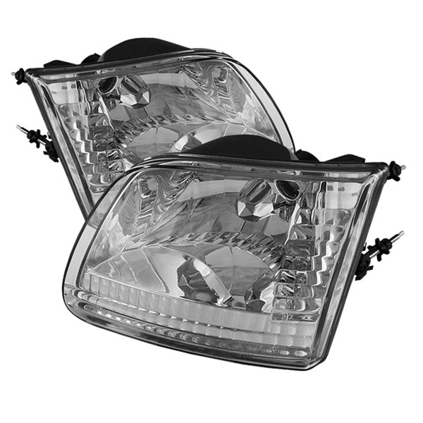 xTune HD-JH-FF15097-C |  Ford F150 / Expedition ( Will Not Fit Anything Before Manu. Date June ) Crystal Headlights - Chrome; 1997-2003
