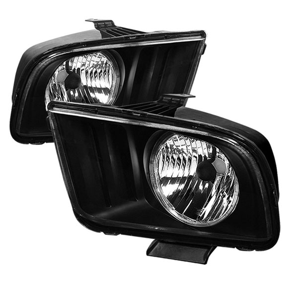xTune HD-JH-FM05-LED-BK:  Ford Mustang 05-08 LED Crystal Headlights - Black