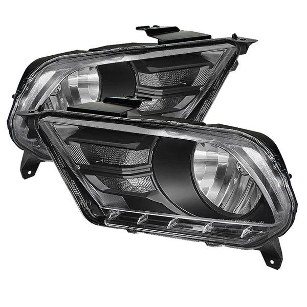 xTune HD-JH-FM2010-BK:  Ford Mustang 10-12 Crystal Headlights - Black