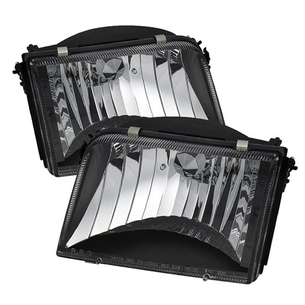 xTune HD-JH-FR93-BK:  Ford Ranger 93-97 Crystal Headlights - Black