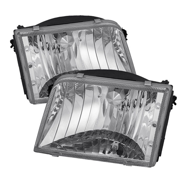 xTune HD-JH-FR93-C:  Ford Ranger 93-97 Crystal Headlights - Chrome