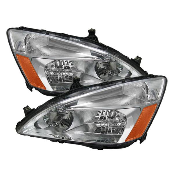 xTune HD-JH-HA03-AM-C    Honda Accord 03-07 Amber Crystal Headlights - Chrome