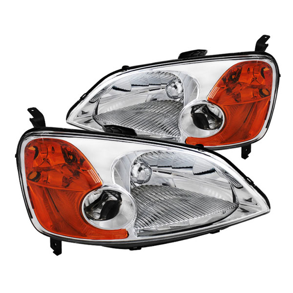 xTune (HD-JH-HC01-AM-C)  Honda Civic 01-03 2/4Dr Crystal Headlights - Chrome