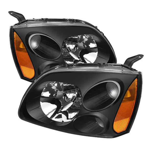 xTune (HD-JH-MG04-AM-BK)  Mitsubishi Galant 04-08 Amber Crystal Headlights - Black