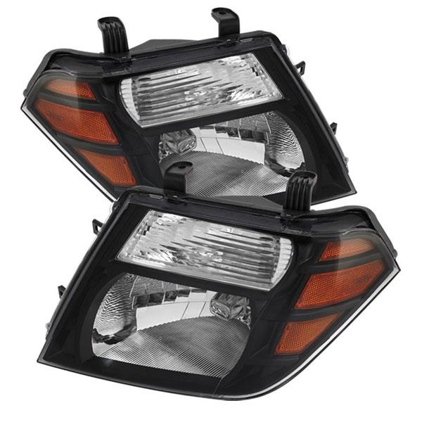 xTune HD-JH-NP08-AM-BK |  Nissan Pathfinder Amber Crystal Headlights - Black; 2008-2011