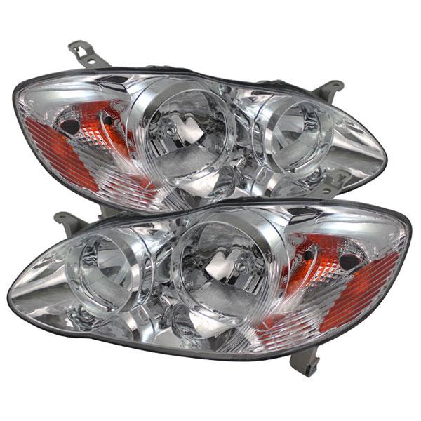 xTune HD-JH-TC03-AM-C |  Toyota Corolla Crystal Headlights - Chrome; 2003-2006