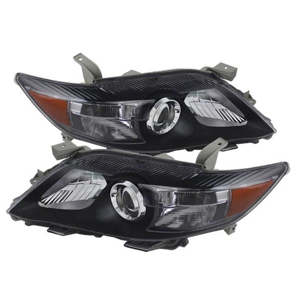 xTune HD-JH-TCAM10-AM-BK    Toyota Camry ( USA Built/NAL ) Amber Projector Headlights - Black; 2010-2011