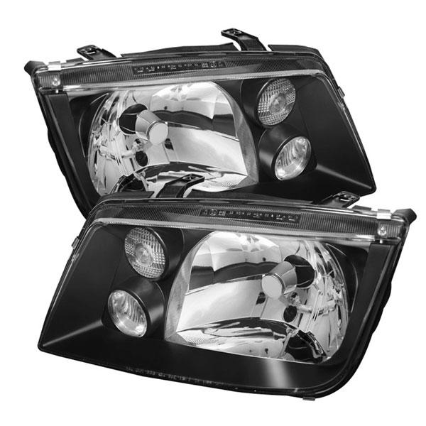 xTune HD-JH-VJ99-BK |  Volkswagen Jetta Crystal Headlights - Black; 1999-2005