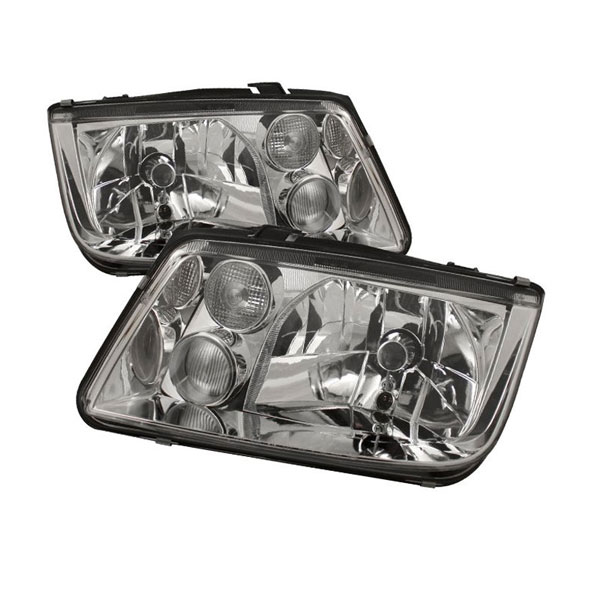 xTune HD-JH-VJ99-C |  Volkswagen Jetta Crystal Headlights - Chrome; 1999-2005
