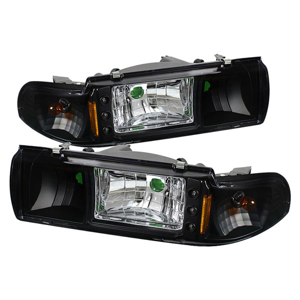 xTune HD-ON-CCP91-1PC-LED-BK:  Chevrolet Caprice 91-96 1PC LED Crystal Headlights - Black