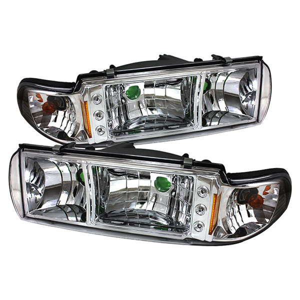 xTune HD-ON-CCP91-1PC-LED-C |  Chevrolet Impala 1PC LED Crystal Headlights - Chrome; 1991-1996