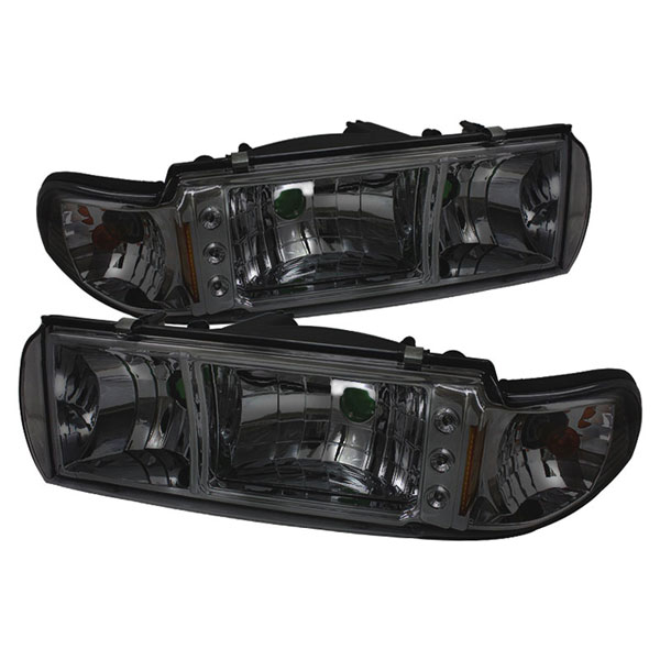 xTune HD-ON-CCP91-1PC-LED-SM:  Chevrolet Caprice 91-96 1PC LED Crystal Headlights - Smoke